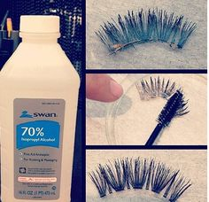 to remove the gunky glue of your falsies!