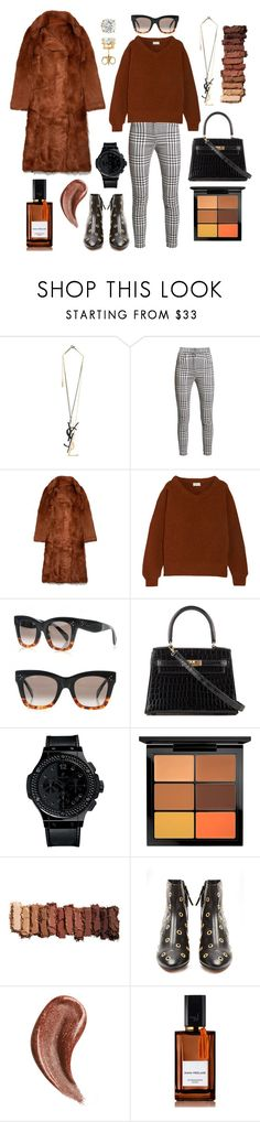 """""""There are no ugly women, just lazy ones."""" by theodor44444 ❤ liked on Polyvore featuring Yves Saint Laurent, Balmain, Tory Burch, Lemaire, Hermès, Hublot, MAC Cosmetics, Urban Decay, Isabel Marant and Gucci"""