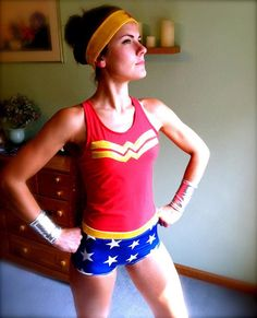 Wonder Woman inspired Running Costume via Etsy. {SO want this for my upcoming 40th bday!}