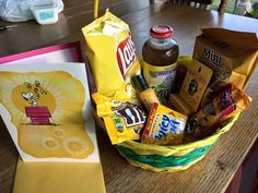 """Create a """"Sunshine Basket"""" to share with staff (or any individual) during American Education Week! It's sure to be a hit!"""