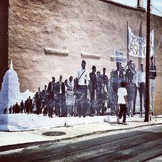 JR's New Street Art Tribute to MLK's Famous Speech -