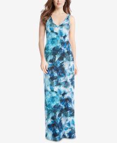 Karen Kane Sea Glass Printed Maxi Dress | macys.com