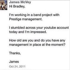 This is how the Vamps began,The first message sent by james :) <3 ..No i dont have access to their phones to see this(Yet)Haha!:)