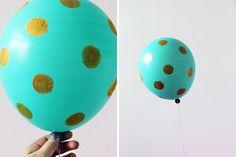 Gold Polka Dots | 7 Ways to Decorate Balloons