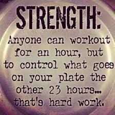 This is where I struggle. I have the working out down, it's the food that trips me up.