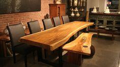 Salle à manger: créer l'anti-kit parfait   CHEZ SOI Photo: Artemano #salleamanger #table #bois