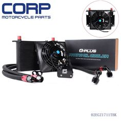 """99.99$  Buy now - http://alibgc.worldwells.pw/go.php?t=32718495692 - """"Universal 28 Row Transmission Engine Oil Cooler AN10 + 7"""""""" 12V Electric Fan Kit"""""""