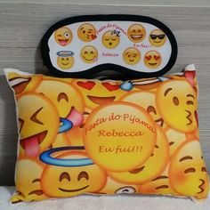 Kit Festa do Pijama Emoji Personalizados Emoji Legal, Emoji Bedroom, Emoji Things, Emoji Stuff, Cool Emoji, 9th Birthday, Diy Pillows, Diy For Teens, Kids And Parenting