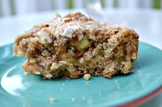 Amazingly moist, low fat, healthy apple cake- no butter or oil, and you can substitute with honey, agave, or stevia! Added bonus: It's super easy!