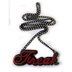 Evil Freak Pendant Black & Red   Gothic Clothing   Emo clothing  ... ($9.41) ❤ liked on Polyvore