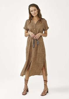 Ande Dot Jurk Beige Dots, Bohemian, Beige, Prints, Shopping, Style, Fashion, Stitches, Swag