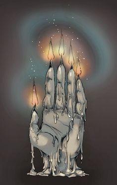 Hand of Glory - Occult / Esoteric / Magic / Fantasy Art Print. $14.00, via Etsy.