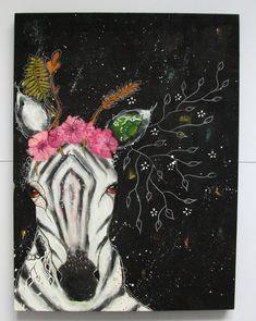 No desire for drama, original painting by Micki Wilde Fantasy Inspiration, Art Journal Inspiration, Creative Inspiration, Outsider Art, Cool Art, Awesome Art, Animal Paintings, Art Blog, Mixed Media Art