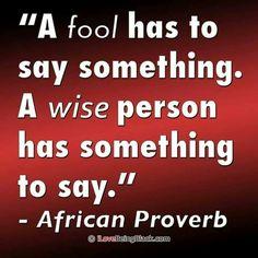 Wise words spoken