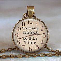 So Many Books So Little Time pendant Book door thependantemporium