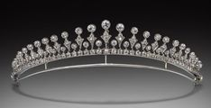 a petite diamond tiara, 1900, a variation on the classic fringe