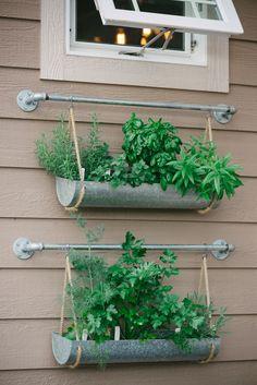 DIY hanging herb garden // Suburban Bitches