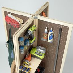 Useful for storing small accessories that are used on a daily basis, this mobile pegboard storage unit is ideal for a garage, workshop or cr...