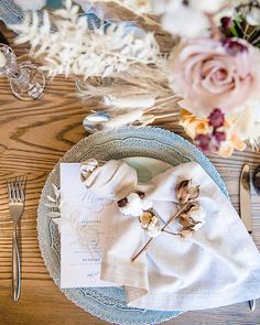 Arte Italica Charger and Uptown Flatware luxury wedding rentals from photo and wedding design by SilentTea. White China, Wedding Rentals, Something Blue, Luxury Wedding, Wedding Designs, Robins Egg, Table Decorations, Flatware, Tabletop