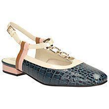 5a60fcc59cff67 Orla Barbara Navy Leather Orla Kiely Shoes