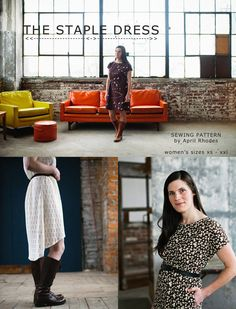 The Staple Dress - PDF Download April Rhodes sewing patterns
