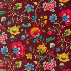 Pip Floral Fantasy Burgundy, behang