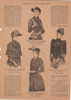 Capes, jackets and hats, Delineator, 1890