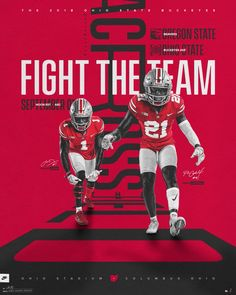 """Fight the team across the field Home cover 1 of stay tuned Creative Poster Design, Creative Posters, Football Ads, Football Posters, College Football, Typography Magazine, Sports Graphic Design, Sport Design, Sport Inspiration"