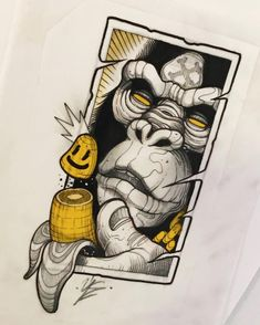 Graffiti Art, Graffiti Drawing, Cool Art Drawings, Art Drawings Sketches, Tattoo Sketches, Neo Tattoo, Hand Tattoo, Tattoo Designs, Sketch Tattoo Design