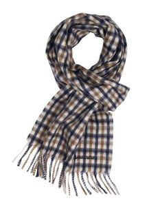 aquascutum scarf in navy. I prefer this plaid to Burberry.