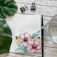 """Melanie 🇨🇭 auf Instagram: """"Sodeli 😃🤗 hier noch mein Favorit der drei neusten floralen Ausbrüche 😅 Ich bin froh, habe ich mich für dieses Ocker Gelb…"""" Inspiration, Instagram, Watercolour, Yellow, Nice Asses, Biblical Inspiration, Inhalation"""