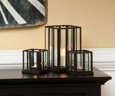 3 Lanterns by Gordon Companies, Inc. $96.00. Please refer to SKU# ATR25798884 when you inquire.. This product may be prohibited inbound shipment to your destination.. Shipping Weight: 4.00 lbs. Brand Name: Gordon Companies, Inc Mfg#: 30876108. Picture may wrongfully represent. Please read title and description thoroughly.. 3 Lanterns/glass paneled/does not include candles/inside use/5''L x 8''W x 5''H/made of metal and glass/you get three lanterns