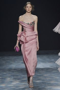 Structured satin blush gown: http://www.stylemepretty.com/2016/02/18/new-york-fashion-week-dresses-fall-2016/