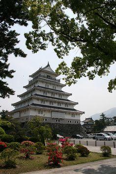 Shimabara Castle in Nagasaki Prefecture, Japan (by perkunas).
