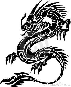tribal viper tattoo - Google Search #dragon #tattoos #tattoo