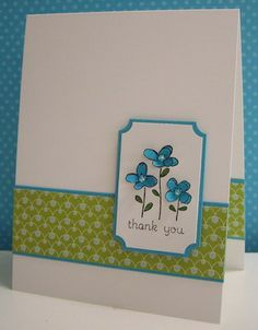 Stamping with Loll: Turquoise Flowers  #stampinup #easyevents