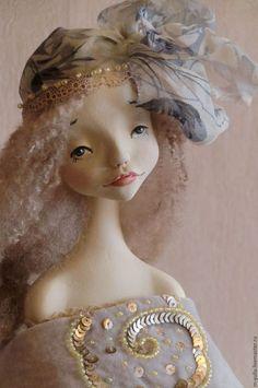 Коллекционные куклы ручной работы. Ярмарка Мастеров - ручная работа. Купить Будуарная кукла. Полина.. Handmade. Бежевый, текстиль
