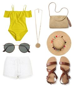 """""""Summer Day"""" by prisdestyles on Polyvore featuring moda, Topshop, Aéropostale, Mar y Sol, Ray-Ban y Givenchy"""