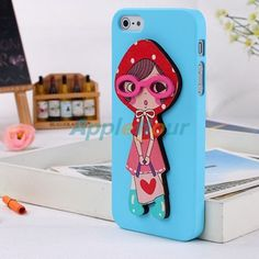 Price: $3.79 Colorful little girl pattern PC back case for apple iPhone 5,buy and dropship,free shipping from China wholesale.