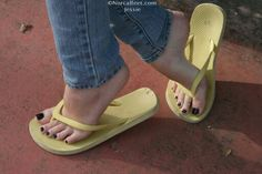 Jessie's feet 63 by on DeviantArt Feet Soles, Women's Feet, Pies Sexy, Toe Polish, Cute Toes, Black Toe, Sexy Toes, Female Feet, Flip Flop Sandals
