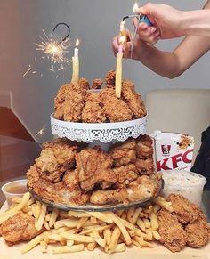 Now that's how you throw a #birthday!! The ultimate #KFC #cake! #showpobdays