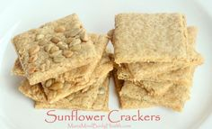 Sunflower Seed Crackers, low carb crackers, paleo crackers