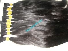 "1.Style:Thin Straight Hair  2.Lenght :12""(30cm)  3.Color: Black  4.Weight: 100g/bundle  5.Quality : 100% Natural , no dyed, no chemical, unprocessed, tangle free"