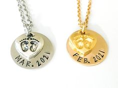 Pregnancy Necklace for Expectant Mom. Personalized with your Due Date. Push Present. New Mom Gift. Silver or Gold - Pregnancy Necklace for Expectant Mom. Personalized with your Due Date. Gifts For New Moms, Gifts For Teens, Gifts For Wife, Mother Day Gifts, Friend Gifts, Cute Jewelry, Jewelry Gifts, Expecting Mom Gifts, Thin Gold Chain