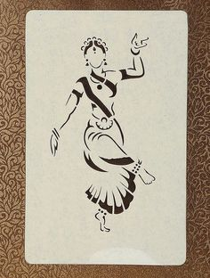 pencil drawings - Female Dancer Sanjhi Wall Art 14 X 10 Girl Drawing Sketches, Doodle Art Drawing, Girly Drawings, Cool Art Drawings, Creative Pencil Drawings, Creative Drawing Ideas, Lotus Drawing, Pencil Sketch Drawing, Portrait Sketches