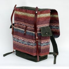 The Wayfarer Backpack in Limited Edition Wool Print