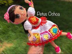 Repeat Teje en crochet, vestuario muñeca Stefania, amigurumis by Petus parte (english subtitles) video by Amigurumis By Petus Ochoa Crochet Doll Clothes, Crochet Dolls, Crochet Baby, Knit Crochet, Doll Patterns, Crochet Patterns, Crochet Videos, Amigurumi Doll, Yarn Crafts