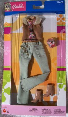 Fashion Avenue Barbie 2004 C4008 Trend Tan Suede Vest NRFB | eBay