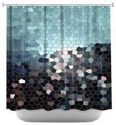 Patternization II Shower Curtain - contemporary - Shower Curtains - DiaNoche Designs
