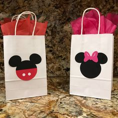 Mickey Mouse Birthday Party Gift Bags Minnie Mouse